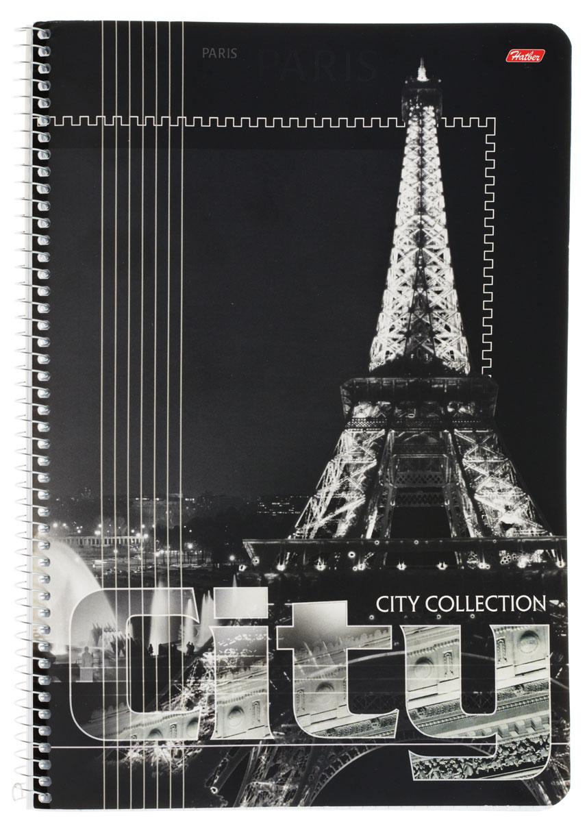 Hatber Тетрадь City Collection Paris 80 листов в клетку 80Т4вмB1сп
