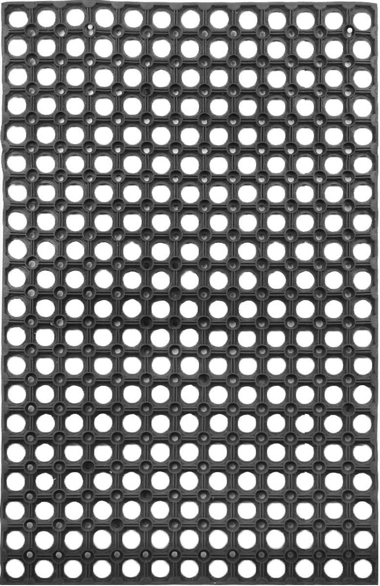 Коврик придверный SunStep, грязесборный, 80 х 50 смS03301004Придверный коврик SunStep изготовлен из прочной и долговечной резины. Конструкция коврика имеет специальные ребра, которые помогают более эффективно удалять грязь с обуви, а отверстия в конструкции удаляют излишки воды. Придверный коврик SunStep надежно защитит помещение от уличной пыли и грязи.