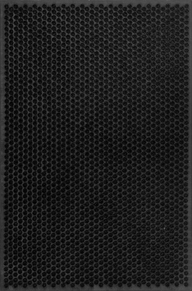 Коврик придверный SunStep Травка, цвет: черный, 60 х 40 см38-035Придверный коврик SunStep Травка, выполненный из резины, прост в обслуживании, прочный и устойчивый. Конструкция коврика имеет специальную поверхность, которая помогает более эффективно удалить грязь с обуви. Его основа предотвращает скольжение по гладкой поверхности и обеспечивает надежную фиксацию. Такой коврик надежно защитит помещение от уличной пыли и грязи.