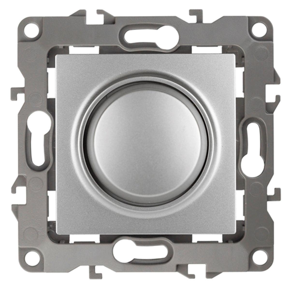 """Светорегулятор поворотно-нажимной """"ЭРА"""", цвет: серый. 12-4101 12-4101-03"""