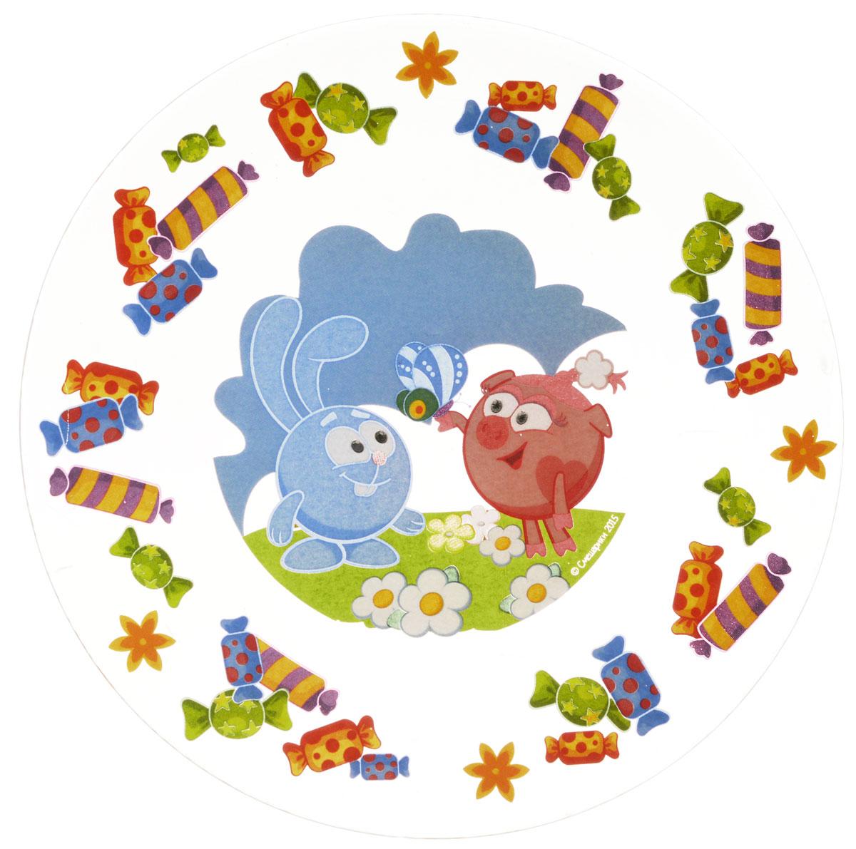 Смешарики Тарелка детская Конфеты диаметр 19,5 смСШТ195-1Яркая тарелка Смешарики Конфеты идеально подойдет для кормления малыша и самостоятельного приема им пищи. Тарелка выполнена из стекла и оформлена высококачественным изображением героев мультсериала Смешарики. Такой подарок станет не только приятным, но и практичным сувениром, добавит ярких эмоций вашему ребенку! Можно использовать в посудомоечной машине.