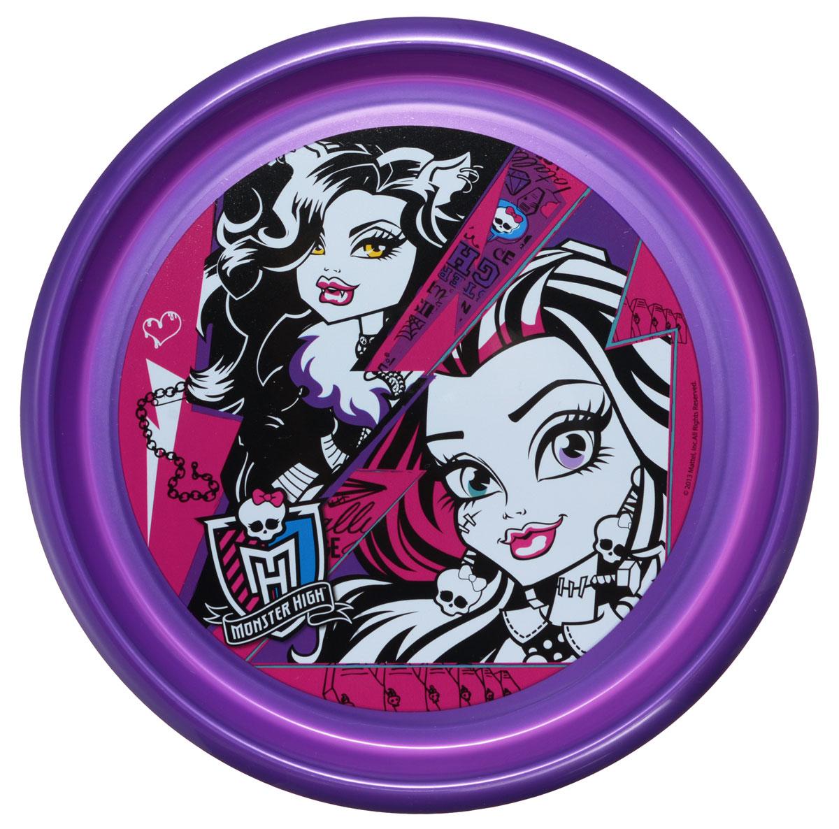 Monster High Тарелка детская диаметр 23 смSW4003Яркая тарелка Monster High идеально подойдет для кормления малыша и самостоятельного приема им пищи. Тарелка выполнена из безопасного полипропилена, дно оформлено высококачественным изображением героев мультфильма Monster High.Такой подарок станет не только приятным, но и практичным сувениром, добавит ярких эмоций вашему ребенку! Не предназначено для использования в СВЧ-печи и посудомоечной машине.