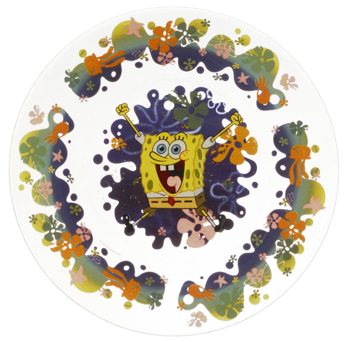 Губка Боб Тарелка детская Водный мир диаметр 19,5 смГБТ195-2Яркая тарелка Губка Боб Водный мир идеально подойдет для кормления малыша и самостоятельного приема им пищи. Тарелка выполнена из стекла и оформлена высококачественным изображением героя мультфильма Губка Боб. Такой подарок станет не только приятным, но и практичным сувениром, добавит ярких эмоций вашему ребенку! Можно использовать в посудомоечной машине.