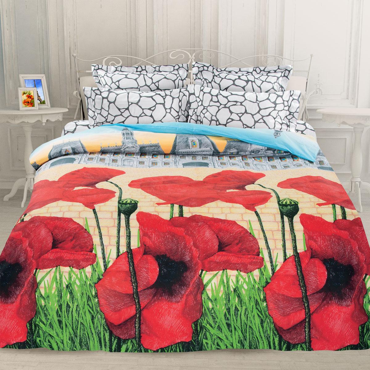 Комплект белья Унисон Французская сказка, семейный, наволочки 70 х 70, цвет: красный. 276903276903Постельное белье торговой марки «Унисон Биоматин» - это домашний текстиль премиум класса с эксклюзивными дизайнами в разнообразных стилистических решениях. Комплекты данной серии выполнены из ткани «биоматин» - это 100% хлопок высочайшего качества, мягкий, тонкий и легкий, но при этом прочный, долговечный и очень практичный, с повышенным показателем износостойкости, обладающий грязе- и пылеотталкивающими свойствами, долго сохраняющий чистоту и свежесть постельного белья, гипоаллергенный.