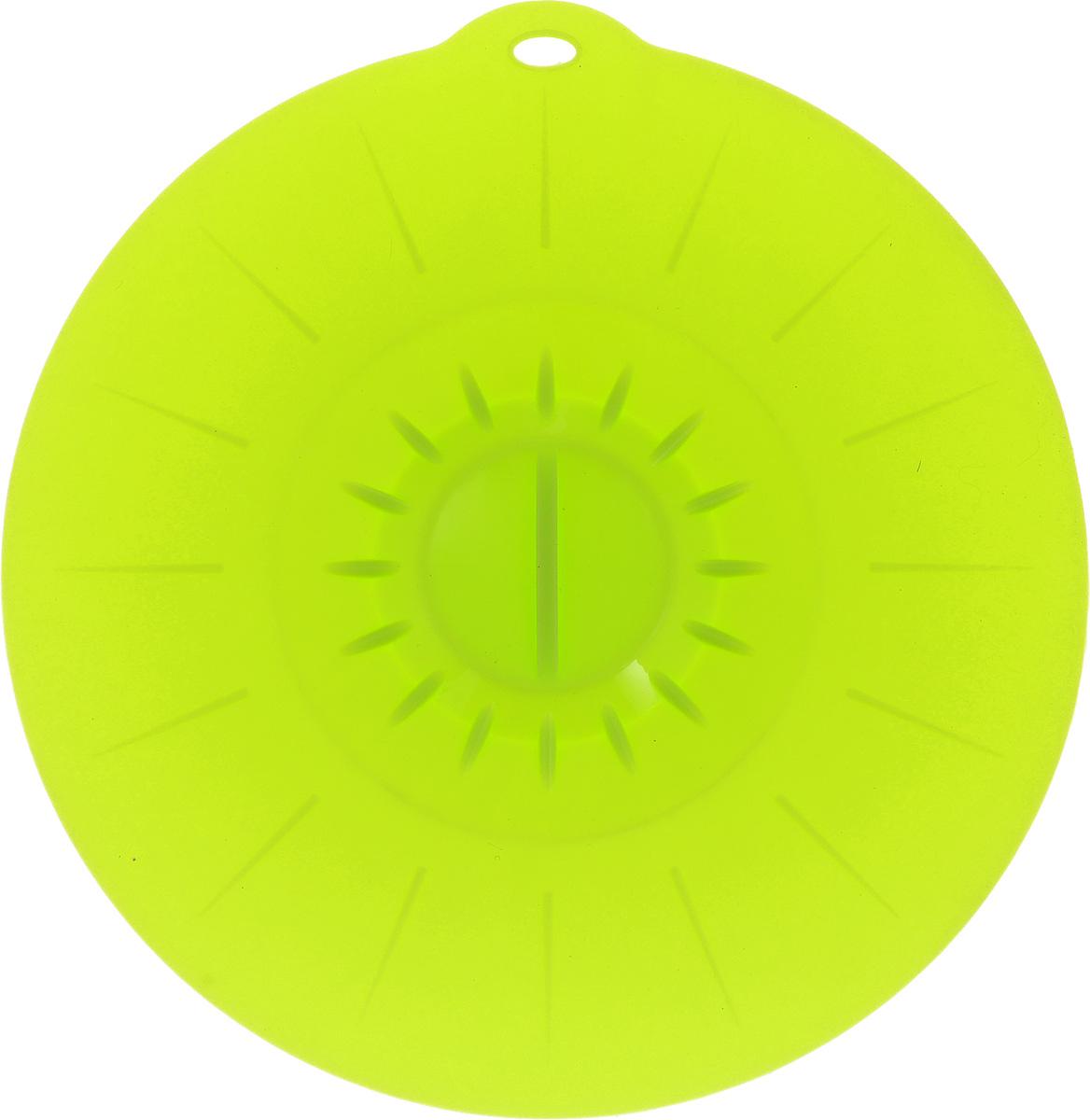 Крышка вакуумная Идея, силиконовая, цвет: салатовый. Диаметр 26 смKRY-26_салатовыйВакуумная крышка Идея, выполненная из пищевого силикона, предназначена для герметичного закрытия любой посуды. Крышка плотно прилегает к краям емкости, ограничивая доступ воздуха внутрь, благодаря этому ваши продукты останутся свежими гораздо дольше. Основные свойства: - выдерживает температуру от -40°С до +240°С, - невозможно разбить, - легко моется, - не деформируется при хранении в свернутом виде, - имеет долгий срок службы, сохраняя свой первоначальный вид, - не выделяет вредных веществ при нагревании или охлаждении, - не впитывает запахи, - не вступает в химическую реакцию с продуктами, - безопасна при использовании в микроволновой печи, в духовке и морозильной камере. Такая крышка станет незаменимым помощником на вашей кухне.