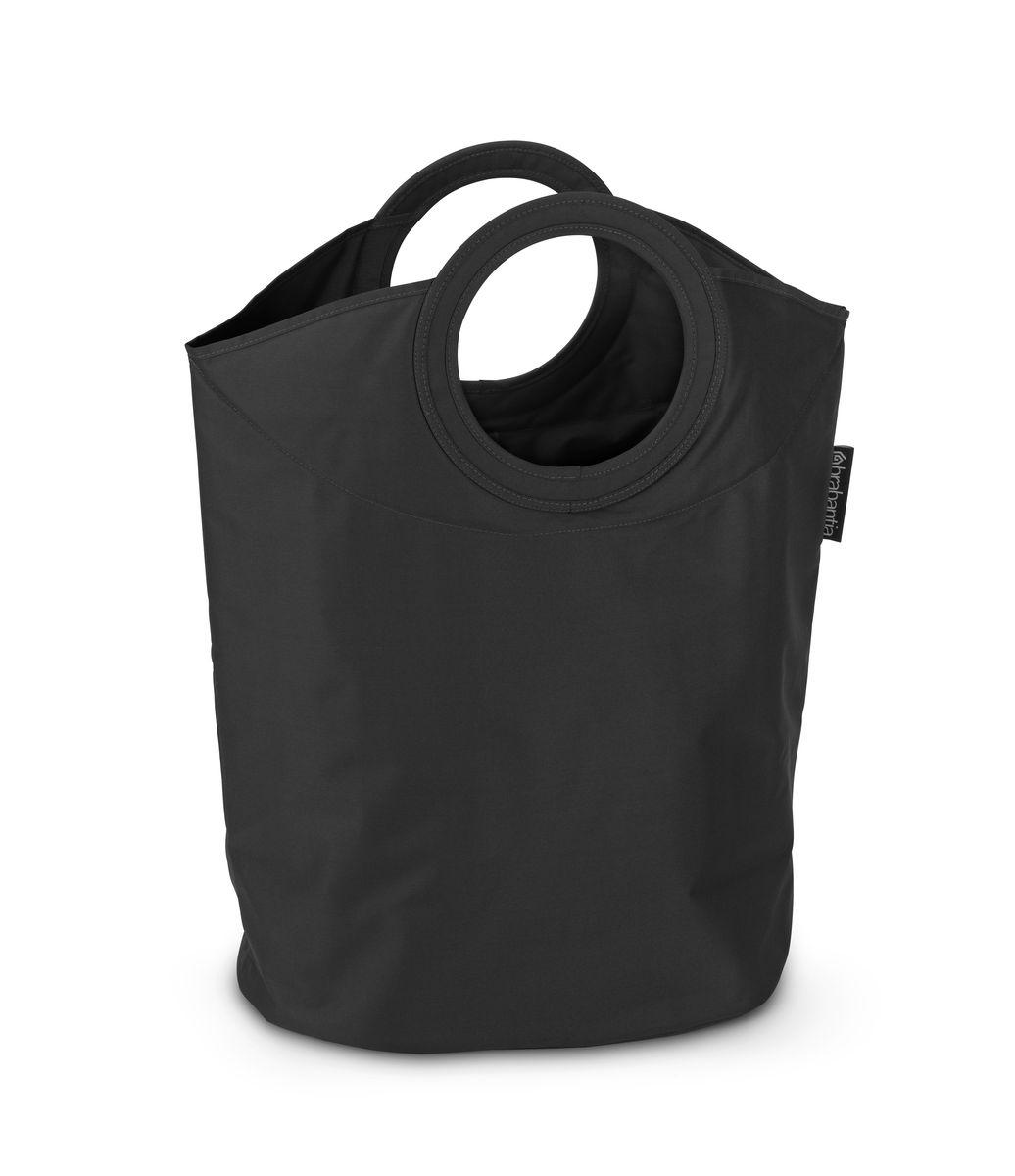 Сумка для белья Brabantia, цвет: черный, 50 л. 101601101601Оригинальная сумка для белья Brabantia экономит место и превращает вашу стирку в увлекательное занятие. С помощью складывающихся магнитных ручек сумка закрывается и превращается в корзину для белья с загрузочным отверстием. Собрались стирать? Поднимите ручки, и ваша сумка готова к использованию. Особенности: Загрузочное отверстие для быстрой загрузки белья - просто сложите магнитные ручки; Большие удобные ручки для переноски; Удобно загружать белье в стиральную машину - большая вместимость и широкое отверстие; 2 года гарантии Brabantia; Объем 50 л.