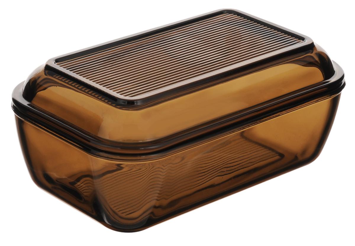 Масленка Luminarc Directoire EclipseH0324Великолепная масленка Luminarc Directoire Eclipse, выполненная из высококачественного стекла, предназначена для красивой сервировки и хранения масла. Она состоит из подноса и крышки. Масло в ней долго остается свежим, а при хранении в холодильнике не впитывает посторонние запахи. Масленка Luminarc Directoire Eclipse идеально подойдет для сервировки стола и станет отличным подарком к любому празднику. Размер подноса: 17 х 10,3 х 2,5 см. Размер крышки: 17 х 10,3 х 5 см.