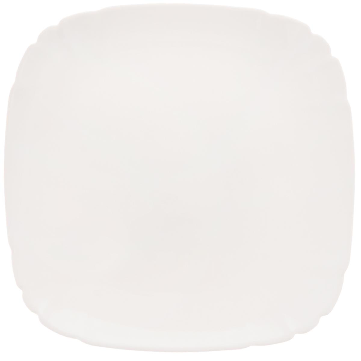 Тарелка десертная Luminarc Lotusia, 20,5 х 20,5 смH1505Десертная тарелка Luminarc Lotusia выполнена из высококачественного стекла. Изделие сочетает в себе изысканный дизайн с максимальной функциональностью. Она прекрасно впишется в интерьер вашей кухни и станет достойным дополнением к кухонному инвентарю. Десертная тарелка Luminarc Lotusia подчеркнет прекрасный вкус хозяйки и станет отличным подарком. Размер тарелки (по верхнему краю): 20,5 х 20,5 см. Высота стенки: 1,7 см.