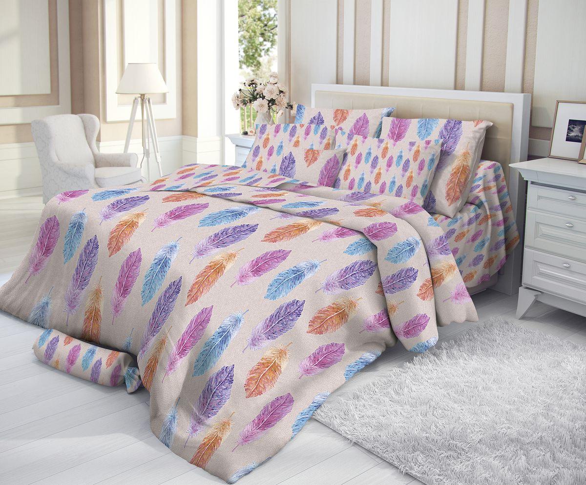 Комплект белья Verossa, 2-спальный, наволочки 50х70, цвет: серый, мультиколор193777Сатин - настоящая роскошь для любителей понежиться в постели. Вас манит его блеск, завораживает гладкость, ласкает мягкость, и каждая минута с ним - истинное наслаждение. Тонкая пряжа и атласное переплетение нитей обеспечивают сатину мягкость и деликатность. Легкий блеск сатина делает дизайны живыми и переливающимися. 100% хлопок, не электризуется и отлично пропускает воздух, ткань дышит. Легко стирается и практически не требует глажения. Не линяет, не изменяет вид после многочисленных стирок.