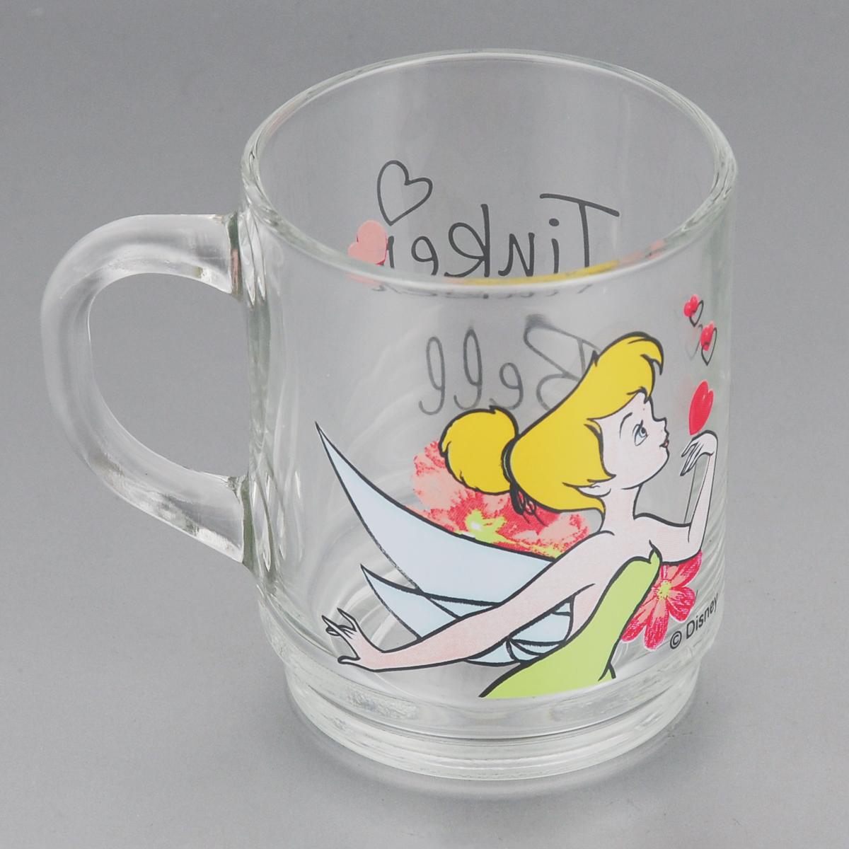 Кружка Luminarc Disney Tinker Bell, 250 млH3630Кружка Luminarc Disney Tinker Bell, изготовленная из прочного стекла, прекрасно подойдет для подачи горячих и холодных напитков. Она дополнит коллекцию вашей кухонной посуды и будет служить долгие годы. Диаметр кружки (по верхнему краю): 7 см. Высота стакана: 9 см.