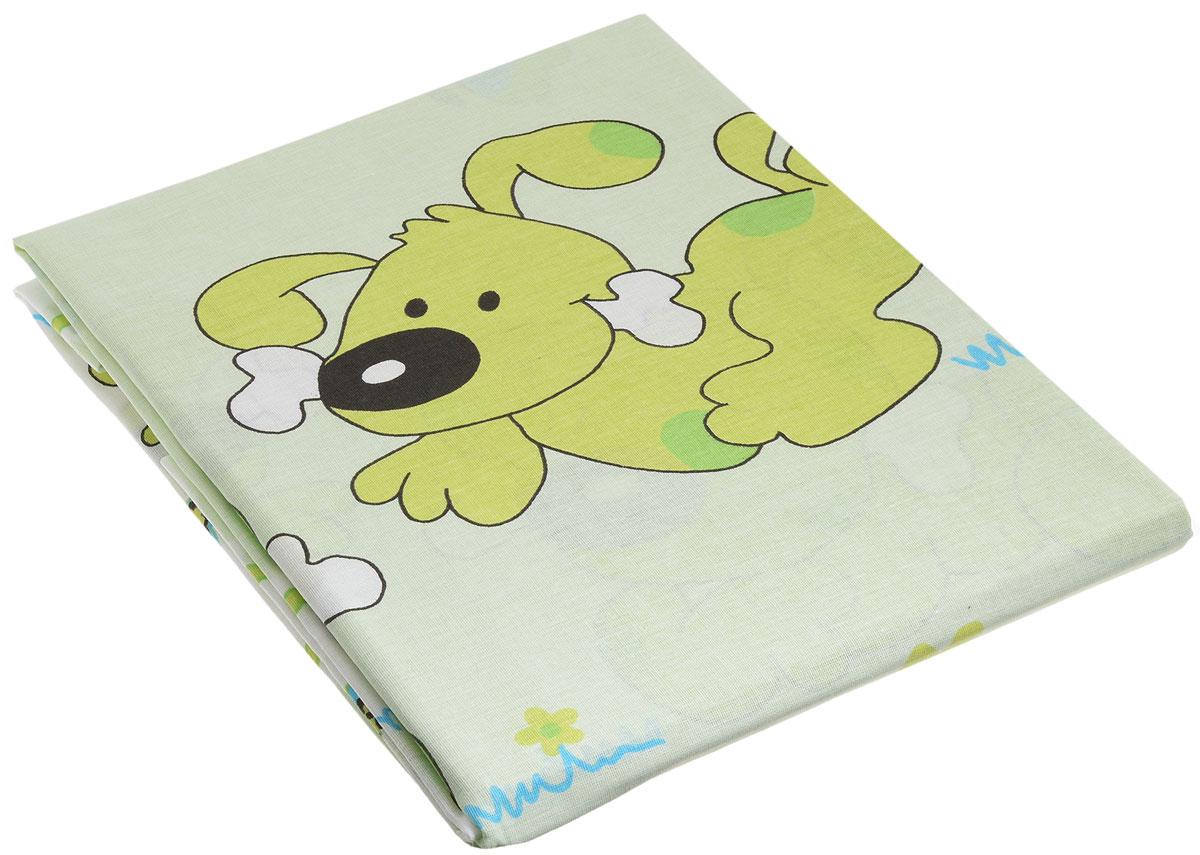 Топотушки Комплект детского постельного белья Дружок цвет зеленый 3 предмета