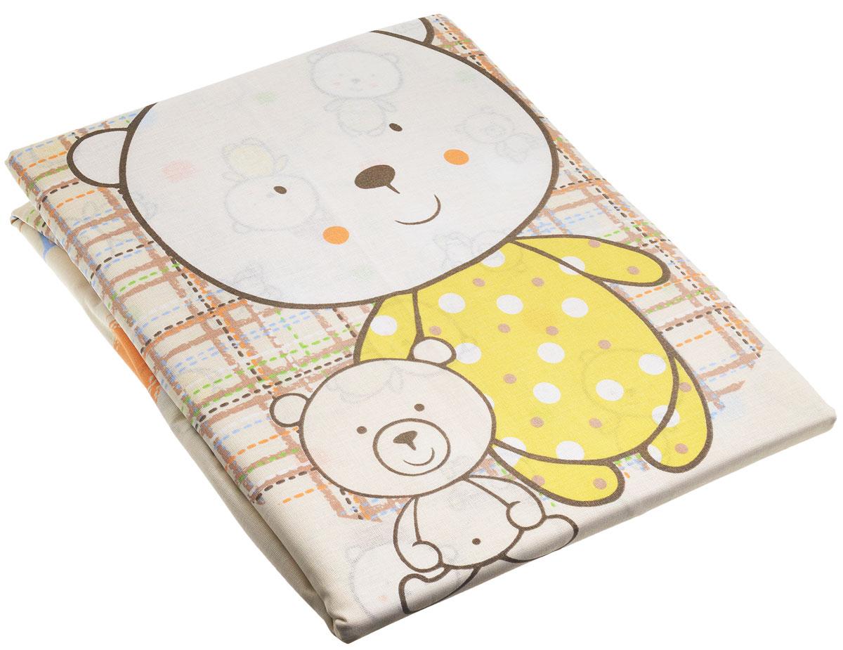 Топотушки Комплект детского постельного белья Мой Медвежонок цвет бежевый 3 предмета
