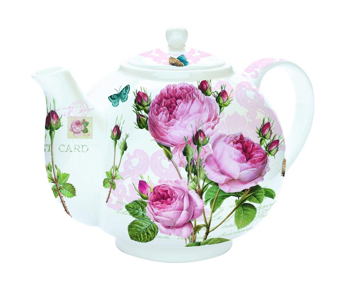 Чайник заварочный Nuova R2S Романтические розы, с ситом, 1 л321RMRИзящный и элегантный чайник Nuova R2S Романтические розы изготовлен из высококачественного фарфора. Съемный фильтр из стали позволит быстро и легко очистить чайник. Изделие предназначено для подачи как горячих, так и холодных напитков. Заварочный чайник Nuova R2S Романтические розы станет великолепным подарком для любителей чая.