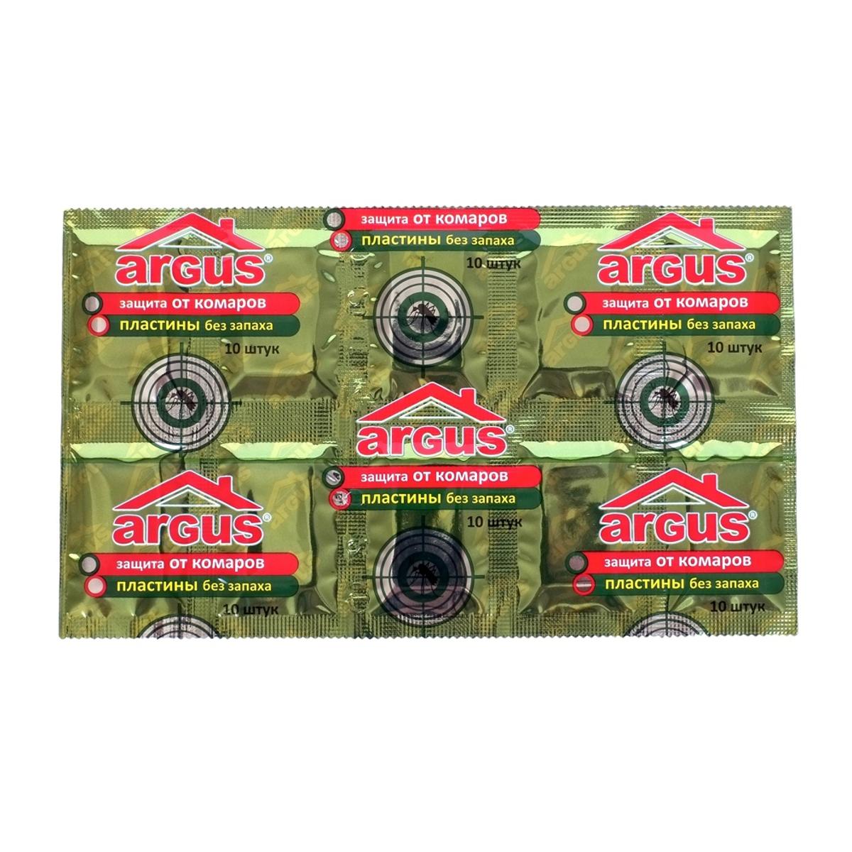 Пластины от комаров Argus, без запаха, 10 штСЗ.010005Пластины от комаров Argus могут быть использованы многократно, для дальнейшего использования их следует хранить в упаковке. Полная гибель комаров в закрытых помещениях достигается за 15-20 минут в зависимости от площади помещения. Применение одной пластины рассчитано до 8-10 часов в непрерывном режиме работы в помещении площадью до 30 м2. Обесцвечивание пластины является показателем окончания срока действия. Состав: ДВ-эсбиотрин, стабилизатор, краситель.