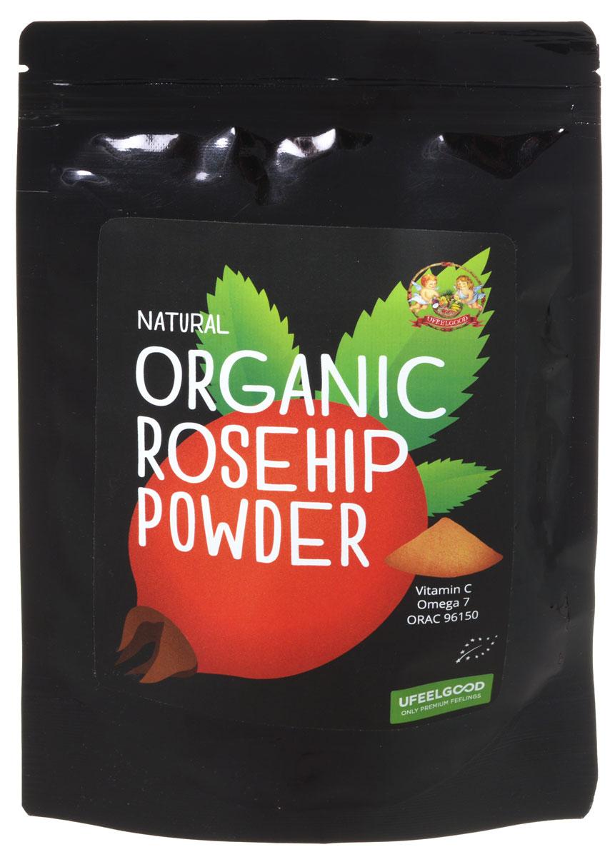 UFEELGOOD Organic Rosehip Powder органический шиповник молотый, 100 г0120710Порошок шиповника UFEELGOOD был произведен путем холодного шлифования из органического сушеного без косточек шиповника. Ягоды были собраны в солнечных горах Родопы в Болгарии. Шиповник имеет ORAC значение 96150 и является одним из самых мощных антиоксидантов на Земле. Порошок содержит высокое значение витамина С и Омега - 7 жирные кислоты.Вы можете добавить порошок шиповника в кашу на завтрак или сделать любимый смузи, размешать с водой, добавить в ваши сырые блюда, смешать с равным количеством меда и наслаждаться вкусом, одновременно укрепляя всю иммунную систему ежедневно.