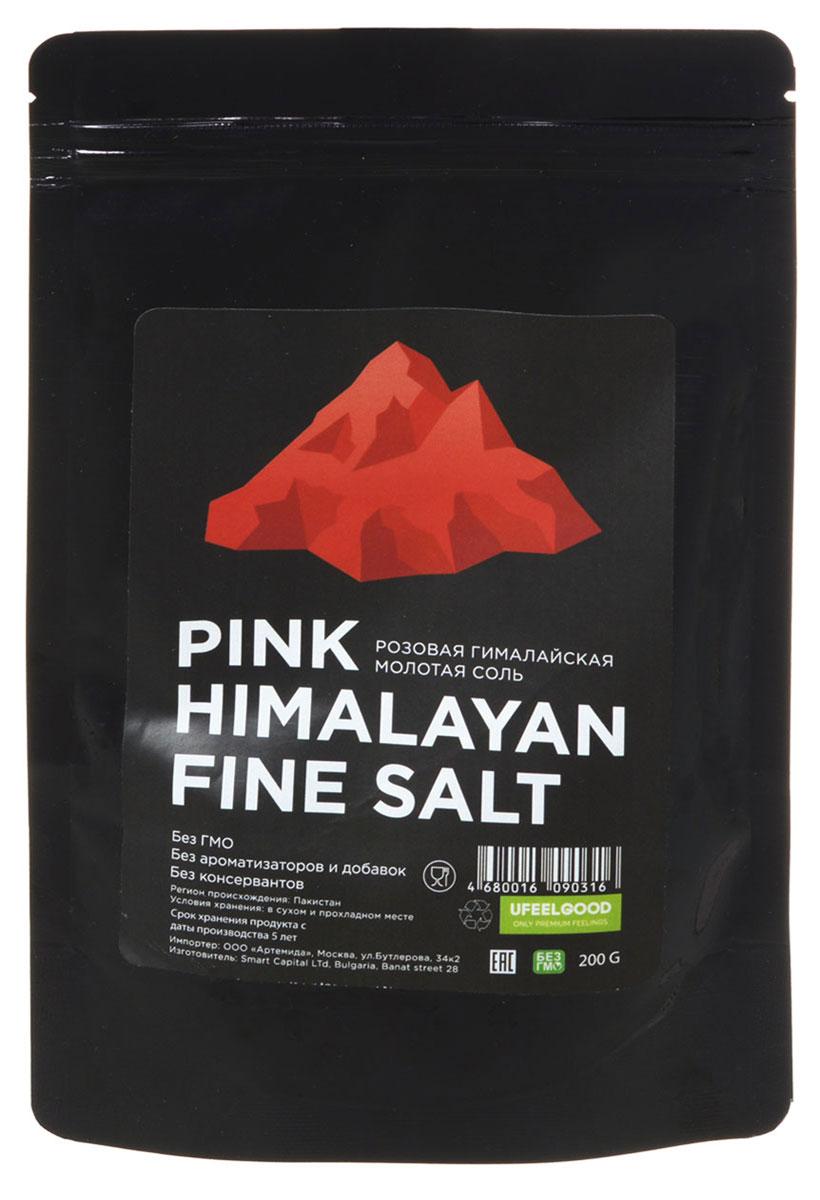 UFEELGOOD Pink Himalayan Fine Salt розовая гималайская молотая соль, 200 г0120710Гималайскую соль от UFEELGOOD добывают из глубин Гималайских гор, эта соль сформировалась более 200 миллионов лет назад и остается не тронутой от современных загрязнений и примесей. Гималайская розовая соль - это природный антисептик, содержащий в себе около 90 микроэлементов, нет добавок и алюминиевых соединений, которые содержатся в обычной поваренной соли. Смешавшись с магмой соль обогащена калием, железом, магнием и медью, она ценится своими качествами с давних времен. Гималайская розовая соль содержит почти одинаковый набор элементов, как и в нашем теле - в тех же пропорциях.В кулинарии используйте розовую гималайскую соль точно также, как и обычную поваренную или морскую. Оригинальным дополнением к пользе этой соли станет ее необычный розовый оттенок - украсьте горячее блюдо или салат несколькими отдельными крупными кристалликами соли!Для наружного применения рекомендуются солевые ванны, которые полезны при различных заболеваниях кожи, при астме, а также для выведения шлаков. Солевые ванны особенно хороши для сухой кожи. В процессе принятия солевых ванн минеральные вещества, содержащиеся в гималайской розовой соли, проникают через кожу и способствует насыщению и удержанию в ней влаги, выводя в свою очередь токсины (шлаки). Также есть множество преимуществ для здоровья и красоты вашего тела, принимайте солевые ванны, получая комплексный терапевтический эффект.Розовая гималайская соль богата минералами и имеет много преимуществ для здоровья. Она содержит сульфат, магний, кальций, калий, бикарбонат, бромид, борат, стронций и фторид. За счет своего богатого состава эта соль обладает поистине чудесными свойствами:Очищает организм от шлаковВосстанавливает и балансирует водно - солевой обменСтимулирует аппетитСпособствует регенерации клеток и омоложению всего организмаРасслабляет мышечные тканиУравновешивает психологическое состояниеКомплексный терапевтический эффект при использовании в 
