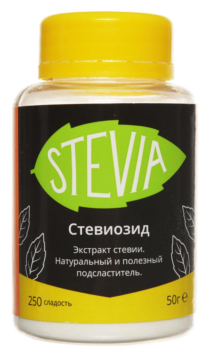 UFEELGOOD Stevia стевиозид молотый сладость 250, 50 г144Стевия UFEELGOOD - натуральный и полезный южноамериканский подсластитель, в 15 - 30 раз слаще сахара. Широкая популярность сладкой травы стевии объясняется содержанием в ее листьях значительного количества витаминов, аминокислот, микроэлементов. Она оказывает благотворное влияние на: Сердечно-сосудистую систему Органы пищеварения Печень и желчный пузырь Иммунную систему Зубы и десны На этом полезные свойства растения не заканчиваются. Как сахарозаменитель стевию рекомендуют диабетикам, поскольку она регулирует уровень содержания сахара в крови, влияет на уменьшения холестерина и радионуклидов и способствует выработке поджелудочной железой инсулина. Активно используют листья стевии и в косметологии при дерматите, экземе, порезах, ожогах. Растение помогает успешно бороться с лишним весом. Стевиозид - натуральный и полезный экстракт из листьев стевии слаще сахара с сотни раз. Он способен полностью удовлетворить вкус к сладкому.