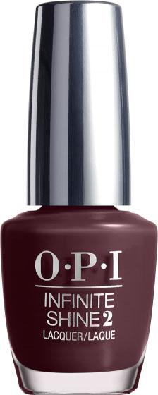 """OPI Лак для ногтей Infinite Shine Stick to Your Burgundies, 15 млISL54""""Линия Infinite Shine была разработана в ответ на желание покупателей получить лаковые покрытия, по свойствам не уступающие гелевым, которые при этом имели бы самые модные оттенки, обладали уникальной формулой и носили культовые имена, которыми так знаменита компания OPI,"""" - объясняет Сюзи Вайс-Фишманн, соучредитель и исполнительный вице-президент OPI. """"Покрытие Infinite Shine наносится и снимается точно так же, как и обычные лаки для ногтей, однако вы получаете те самые блеск и стойкость, которые отличают гелевую формулу!"""" Палитра Infinite Shine включает в себя широкий спектр оттенков, от нейтральных до ярко-красных, оранжевых, розовых, а далее до темно-серых, синих и черного. Лаки Infinite Shine имеют запатентованную формулу. Каждый флакон снабжен эксклюзивной кистью ProWide™ для идеального нанесения."""