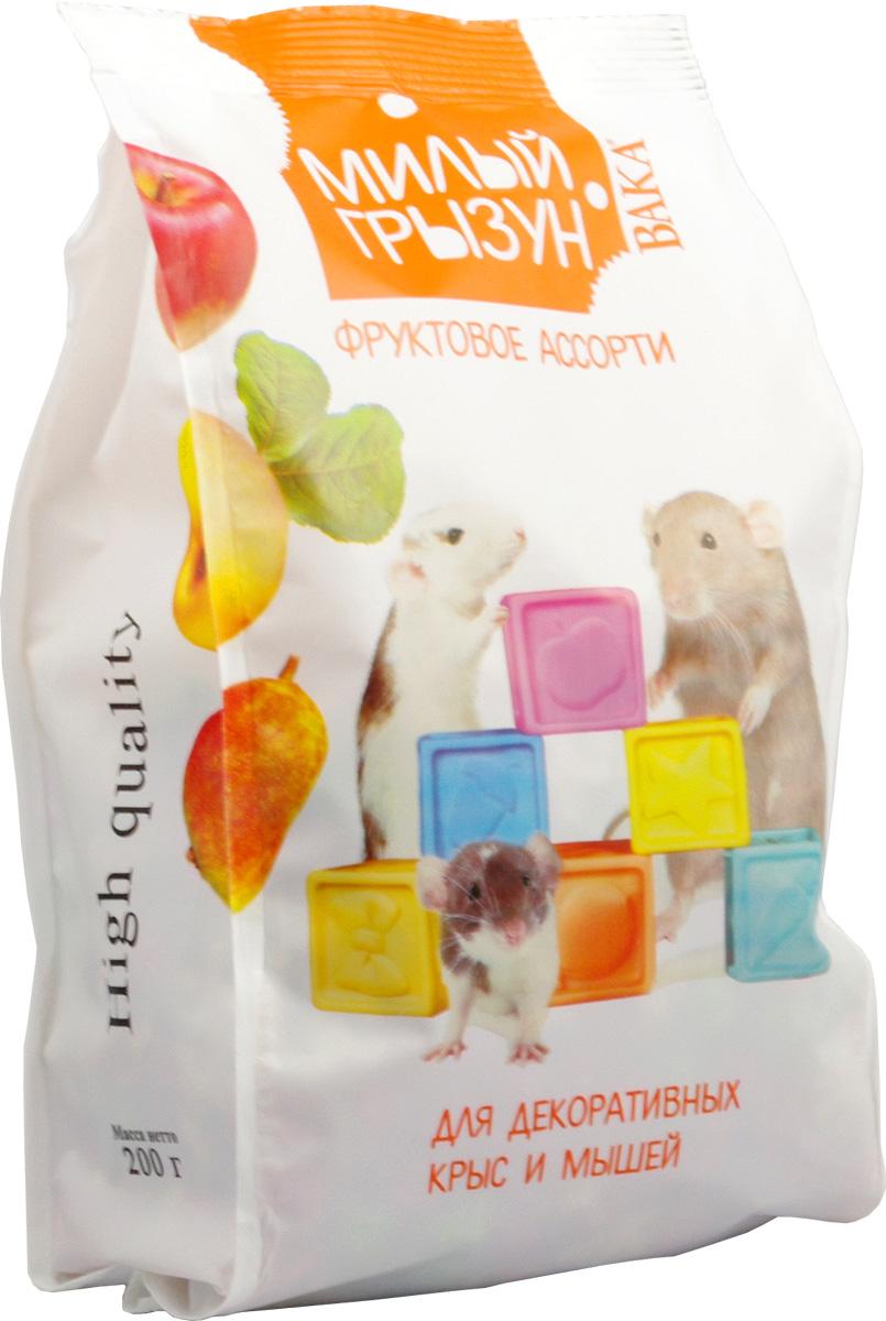 Вака High Quality Милый грызун фруктовое ассорти для декоративных крыс и мышей, 200 г70786