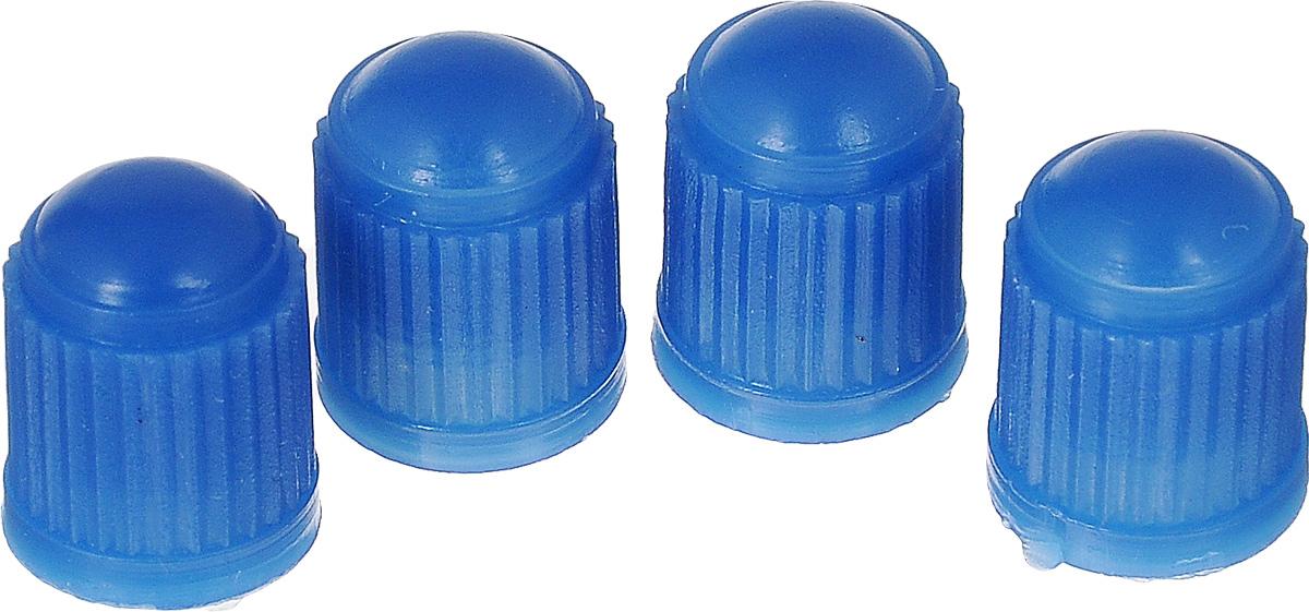 Набор синих пластиковых колпачков для ниппеля колеса МастерПроф