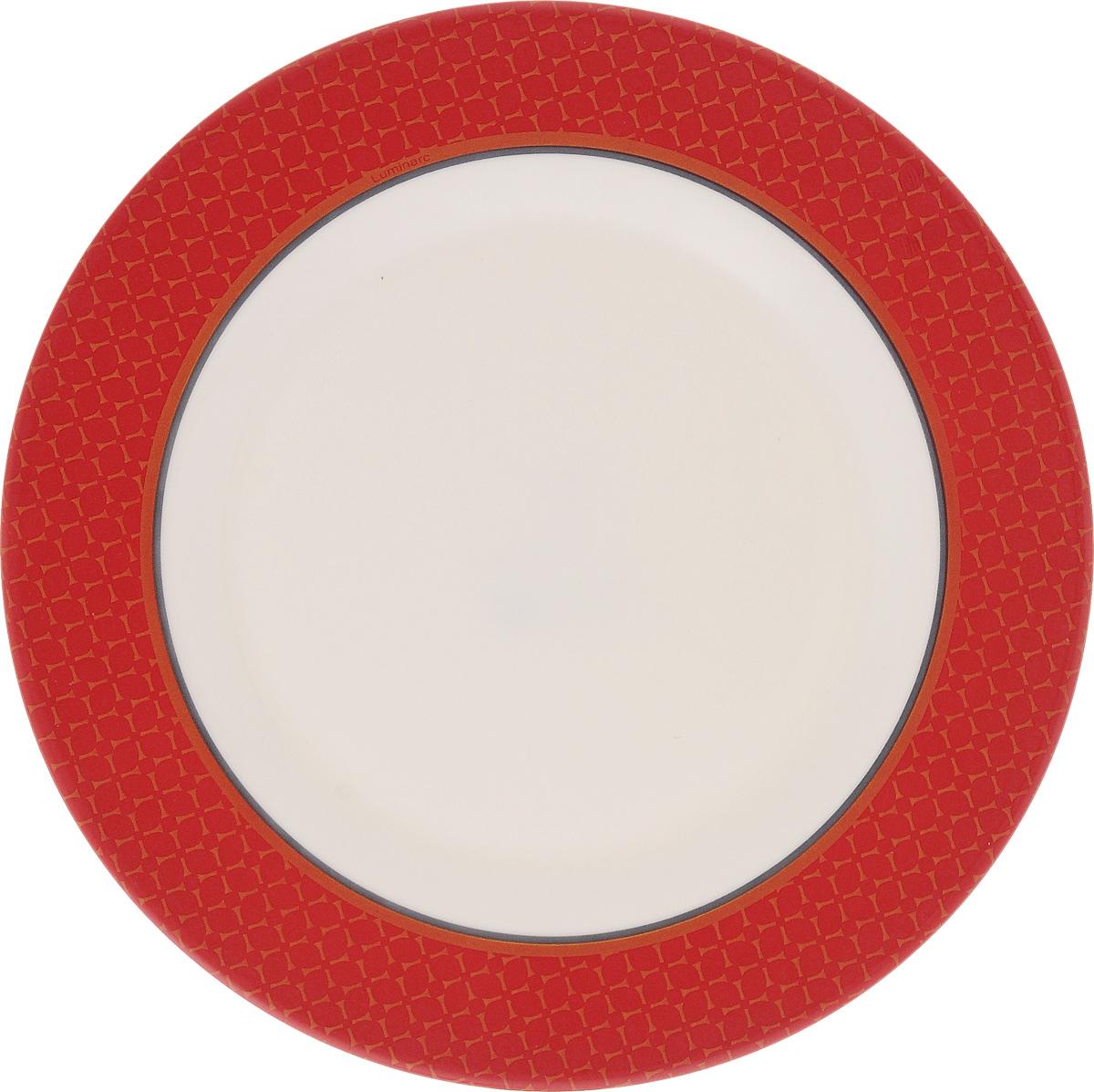 Тарелка десертная Luminarc Alto Rubis, 20,5 смJ3739Десертная тарелка Luminarc Alto Rubis, изготовленная из ударопрочного стекла, имеет изысканный внешний вид. Такая тарелка прекрасно подходит как для торжественных случаев, так и для повседневного использования. Идеальна для подачи десертов, пирожных, тортов и многого другого. Она прекрасно оформит стол и станет отличным дополнением к вашей коллекции кухонной посуды. Диаметр тарелки (по верхнему краю): 20,5 см.
