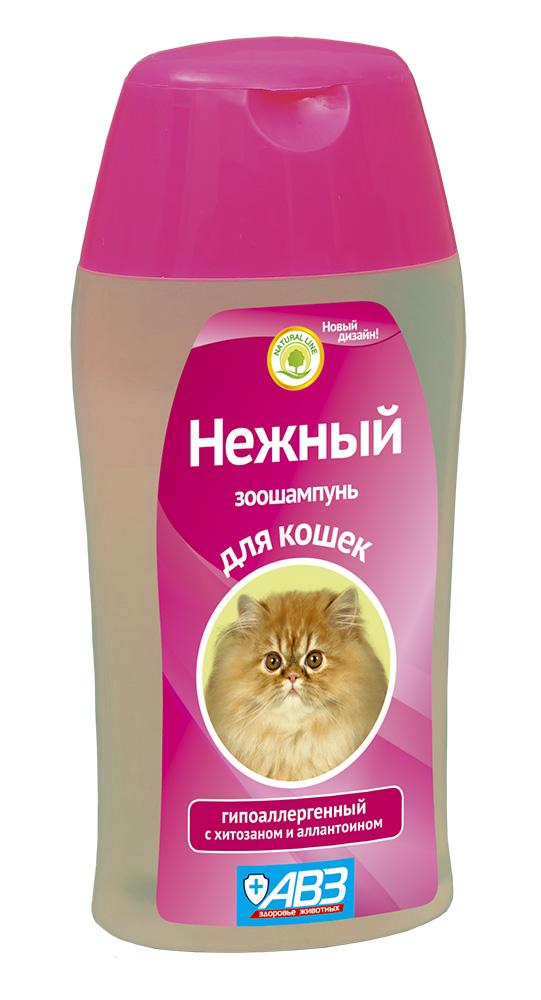 Шампунь НЕЖНЫЙ гипоаллергенный для кошек с хитозаном 180 мл АВЗ41892Специально разработанный шампунь на основе натуральных ингредиентов для чувствительной кожи. Мягкая формула шампуня бережно и нежно очищает кожу и шерсть от загрязнений, не вызывает аллергических реакций. Состав: сукцинат хитозана и алоэ вера. Увлажняет, питает и восстанавливает шерсть, способствует легкому расчесыванию. Прекрасно отмывает шерсть, придает блеск, способствует легкому расчесыванию, облегчает линьку животного
