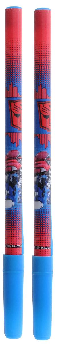 Hasbro Набор шариковых ручек Transformers цвет чернил синий 2 штTRBB-US1-116-H2Шариковая ручка Hasbro Transformers понравится поклонникам трансформеров. Ее корпус выполнен из прочного яркого пластика сине-красного цвета с синим колпачком. Ручка дает аккуратную четкую линию и обеспечивает превосходное качество письма. Чернила быстро сохнут и не размазываются. В наборе 2 ручки.