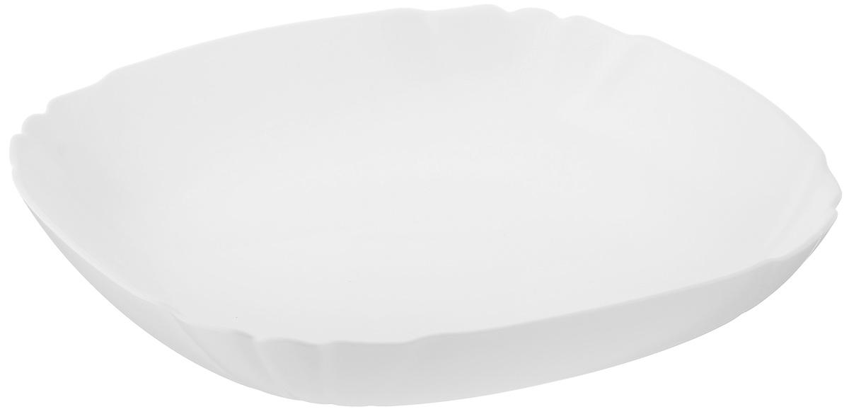 Тарелка глубокая Luminarc Lotusia, 20,5 х 20,5 смH1503Глубокая тарелка Luminarc Lotusia выполнена из ударопрочного стекла и оформлена в классическом стиле. Изделие сочетает в себе изысканный дизайн с максимальной функциональностью. Она прекрасно впишется в интерьер вашей кухни и станет достойным дополнением к кухонному инвентарю. Тарелка Luminarc Lotusia подчеркнет прекрасный вкус хозяйки и станет отличным подарком. Размер (по верхнему краю): 20,5 х 20,5 см.