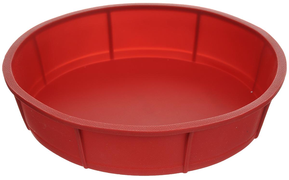 Форма для выпечки Tescoma Delicia, цвет: красный, диаметр 28 см. 629236629236_красныйФорма для выпечки Tescoma из термостойкого силикона идеальна для приготовления бисквитов, пирогов, сладких и соленых блюд. Нужно лишь залить в формочку тесто и поставить в духовку, и через некоторое время вы сможете порадовать своих близких оригинальной выпечкой. Особенности: - температурная стойкость от -40°C до +230°C, - замечательна для выпечки и приготовления всех стандартных блюд в духовке, - выпечка не пригорает, не пристает и легко извлекается из формы, - при обычном использовании практически не может быть повреждена, - не впитывает запахи, легко моется и абсолютно безопасна с точки зрения гигиены. Можно использовать в духовке, микроволновой печи, морозильной камере. Подходит для мытья в посудомоечной машине. Диаметр формы: 28 см. Высота стенки: 6 см.