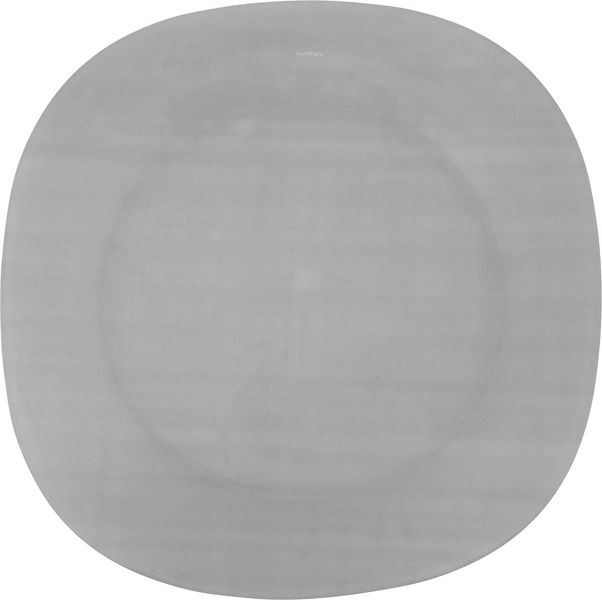 Тарелка обеденная Luminarc Colorama Grey, 25,5 х 25,5 смJ7776Обеденная тарелка Luminarc Colorama Grey, изготовленная из высококачественного стекла, имеет изысканный внешний вид. Яркий дизайн придется по вкусу и ценителям классики, и тем, кто предпочитает утонченность. Тарелка Luminarc Colorama Grey идеально подойдет для сервировки вторых блюд из птицы, рыбы, мяса или овощей, а также станет отличным подарком к любому празднику. Размер тарелки (по верхнему краю): 25,5 х 25,5 см.