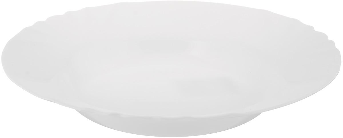 Тарелка глубокая Luminarc Cadix, диаметр 23,5 смJ6691Глубокая тарелка Luminarc Cadix выполнена из ударопрочного стекла. Изделие сочетает в себе изысканный дизайн с максимальной функциональностью. Она прекрасно впишется в интерьер вашей кухни и станет достойным дополнением к кухонному инвентарю. Тарелка Luminarc Cadix подчеркнет прекрасный вкус хозяйки и станет отличным подарком. Диаметр тарелки по верхнему краю: 23,5 см.