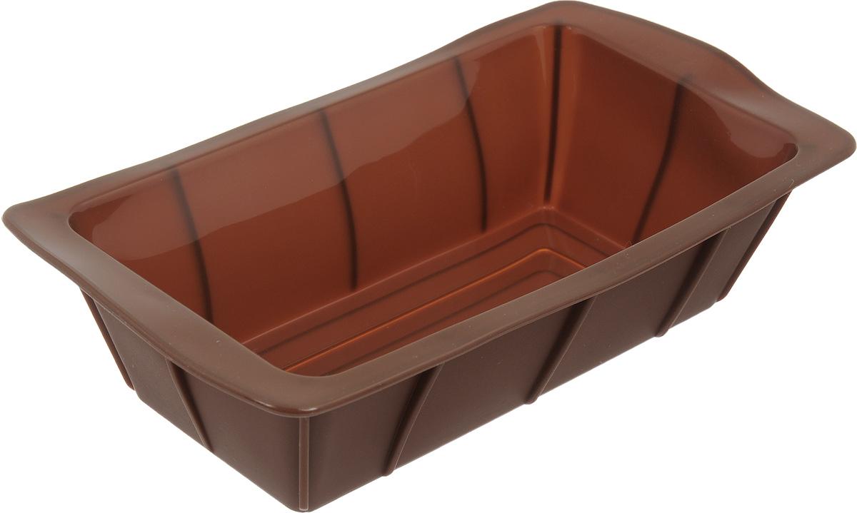 """Форма для выпечки """"Calve"""", силиконовая, цвет: коричневый, 25 х 13,5 х 7,5 см"""