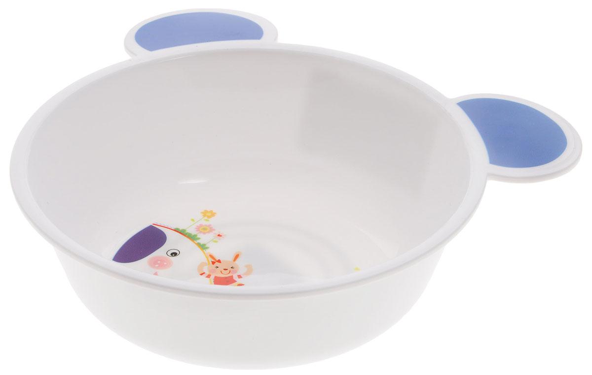 Canpol Babies Тарелка с ушками цвет белый синий диаметр 15 см4/415_белый, синий слонТарелка с ушками Canpol Babies, изготовленная из полипропилена, имеет необычную форму - с ушкамии, позволяющими удобно держать тарелку во время кормления, приготовления пищи и переноски. Красочное оформление тарелки привлечет внимание малыша и сделает прием пищи более приятным. тарелка оснащена антискользящим дном. Подходит для использования в СВЧ- печи. Объем: 440 мл.