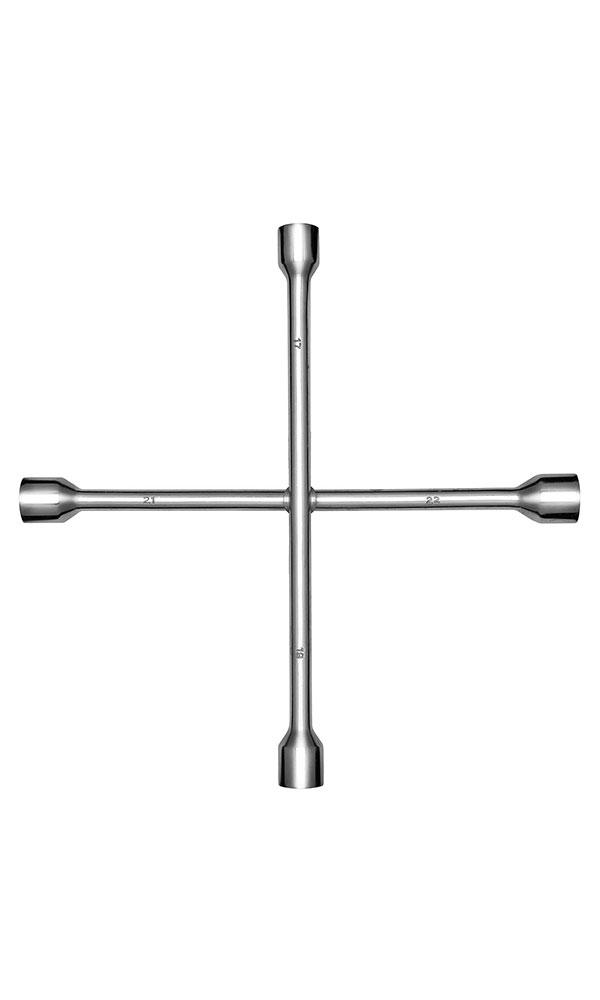 Ключ баллонный крестовой Kraft 17х19х21х22 Master КТ 700560КТ 700560- Материал: высококачественная углеродная сталь