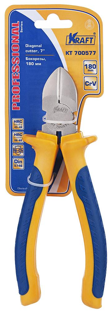 Бокорезы Kraft 180 мм КТ 70057780621- Cr-V, двухкомпонентная рукоятка