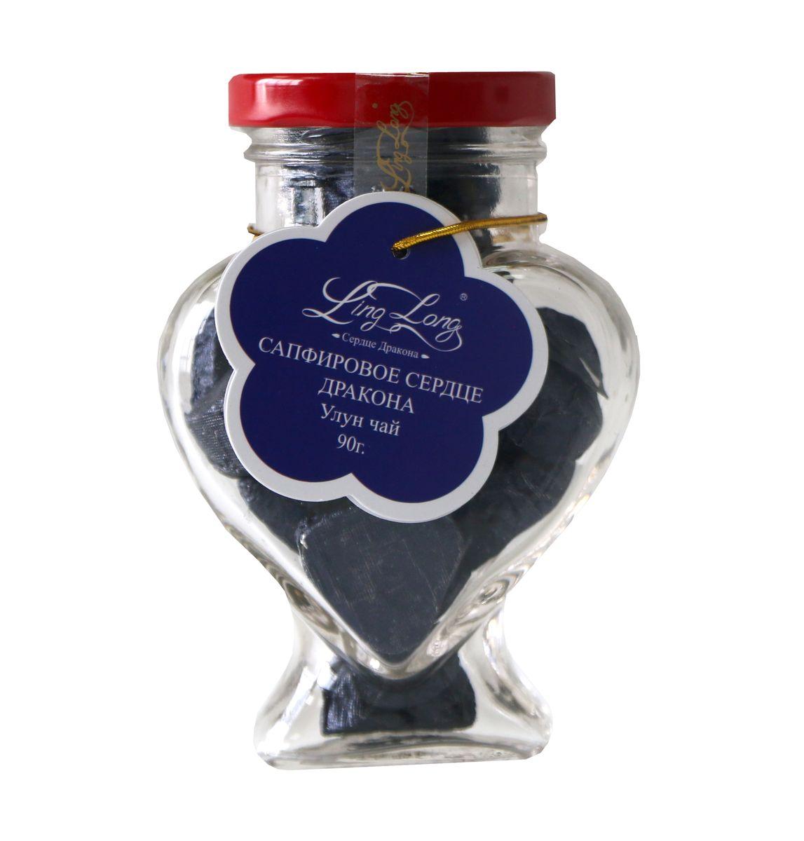 Ling Long Сапфировое сердце дракона листовой чай улун, 90 г (стеклянная банка)LL505Чай зелёный улун байховый китайский среднелистовой Ling Long Сапфировое сердце дракона. Спрессован в форме сердечек. Такой чай станет отличным подарком друзьям или близким.