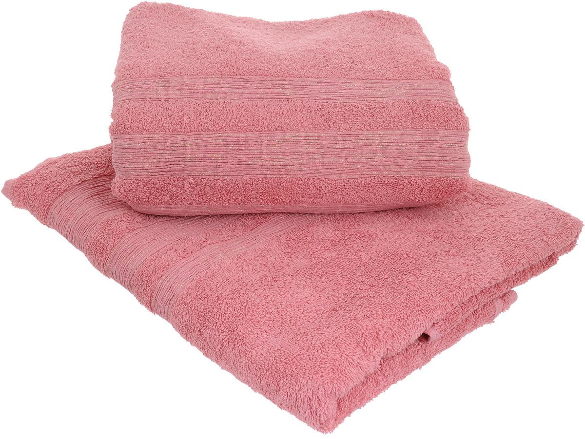 Набор махровых полотенец Унисон Caprice, цвет: розовый, 70 х 140 см, 2 шт290145Набор Унисон Caprice состоит из двух махровых полотенец одного размера, выполненных из натурального 100% хлопка. Изделия отлично впитывают влагу, быстро сохнут, сохраняют яркость цвета и не теряют формы даже после многократных стирок. Торговая марка Унисон соединяет в своих изделиях достойный уровень качества, новейшие дизайнерские технологии и заботу о наиболее комфортном отдыхе. Рекомендации по уходу: - Махровые полотенца следует стирать при температуре 40 градусов; - Сушить при низкой и средней температуре; - Не использовать отбеливатели. Размеры полотенец: 70 х 140 см.