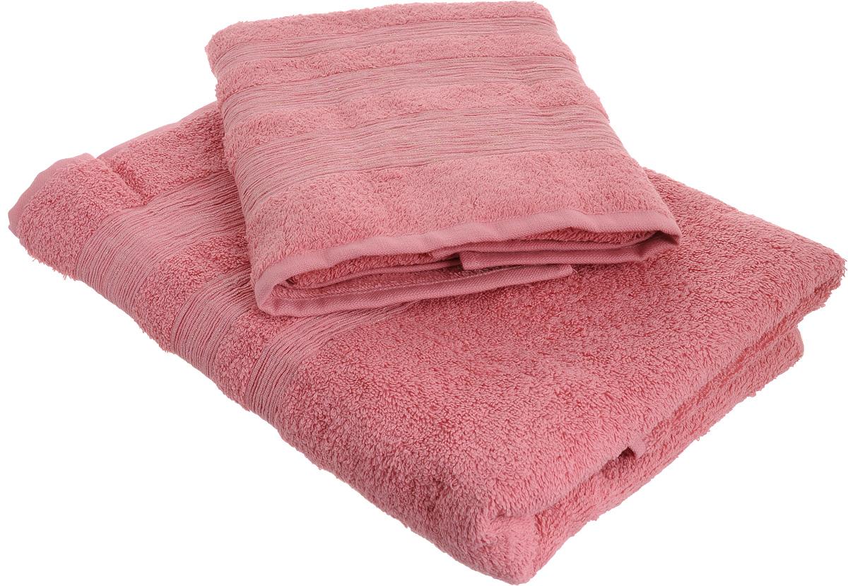 Набор махровых полотенец Унисон Caprice, цвет: розовый, 2 шт290142Набор Унисон Caprice состоит из двух махровых полотенец разного размера, выполненных из натурального 100% хлопка. Изделия отлично впитывают влагу, быстро сохнут, сохраняют яркость цвета и не теряют формы даже после многократных стирок. Торговая марка Унисон соединяет в своих изделиях достойный уровень качества, новейшие дизайнерские технологии и заботу о наиболее комфортном отдыхе. Рекомендации по уходу: - Махровые полотенца следует стирать при температуре 40 градусов; - Сушить при низкой и средней температуре; - Не использовать отбеливатели. Размеры полотенец: 50 х 90 см, 70 х 140 см.