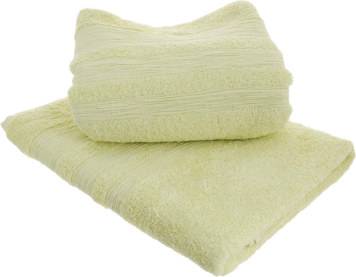 Набор махровых полотенец Унисон Caprice, цвет: светло-зеленый, 70 х 140 см, 2 шт290144Набор Унисон Caprice состоит из двух махровых полотенец одного размера, выполненных из натурального 100% хлопка. Изделия отлично впитывают влагу, быстро сохнут, сохраняют яркость цвета и не теряют формы даже после многократных стирок. Торговая марка Унисон соединяет в своих изделиях достойный уровень качества, новейшие дизайнерские технологии и заботу о наиболее комфортном отдыхе. Рекомендации по уходу: - Махровые полотенца следует стирать при температуре 40 градусов; - Сушить при низкой и средней температуре; - Не использовать отбеливатели. Размеры полотенец: 70 х 140 см.