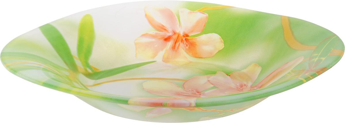 Тарелка глубокая Luminarc Freesia, 21 х 21 смG7803Глубокая тарелка Luminarc Freesia выполнена из ударопрочного стекла и оформлена цветочным рисунком. Изделие сочетает в себе изысканный дизайн с максимальной функциональностью. Она прекрасно впишется в интерьер вашей кухни и станет достойным дополнением к кухонному инвентарю. Тарелка Luminarc Freesia подчеркнет прекрасный вкус хозяйки и станет отличным подарком. Размер (по верхнему краю): 21 х 21 см.