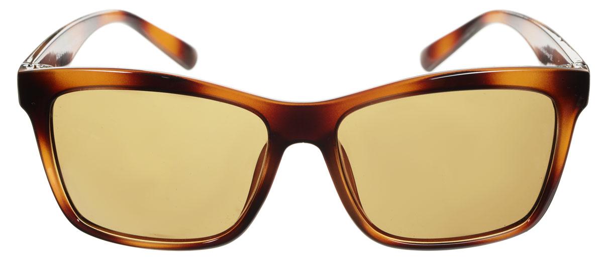 Очки солнцезащитные мужские Fabretti, цвет: черно-коричневый. A1619-6INT-06501Солнцезащитные мужские очки Fabretti выполнены с линзами из высококачественного пластика.Используемый пластик не искажает изображение, не подвержен нагреванию и вредному воздействию солнечных лучей, защищает от бликов, повышает контрастность и четкость изображения, снижает усталость глаз и обеспечивает отличную видимость. Линзы имеют степень затемнения Cat. 3.Пластиковая оправа очков легкая, прилегающей формы и поэтому не создает никакого дискомфорта.