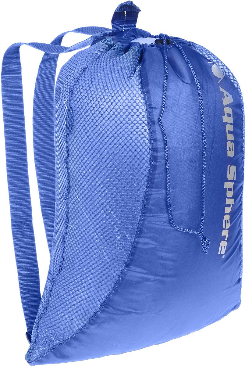 Рюкзак сетчатый Aqua Sphere, цвет: синий, 46 х 61 см3-47670-00504Многофункциональный сетчатый рюкзак Aqua Sphere идеально подходит для переноски и хранения комплекта снаряжения для плавания. Изделие выполнено из высококачественного нейлона. Регулируемые по длине плечевые ремни обеспечивают удобную переноску. Рюкзак закрывается сверху на шнурок на кулиске.