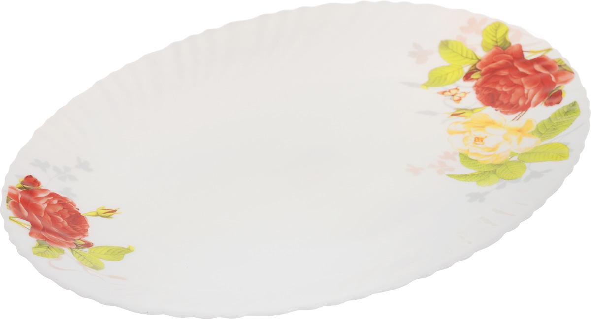Блюдо Chinbull Рона, 30,5 х 22,5 смCM000001328Овальное блюдо Chinbull Рона, выполненное из высококачественной стеклокерамики, декорировано ярким изображением цветов. Изящный дизайн придется по вкусу и ценителям классики, и тем, кто предпочитает утонченность.Блюдо Chinbull Рона идеально подойдет для сервировки стола и станет отличным подарком к любому празднику.Размер блюда (по верхнему краю): 30,5 х 22,5 см.