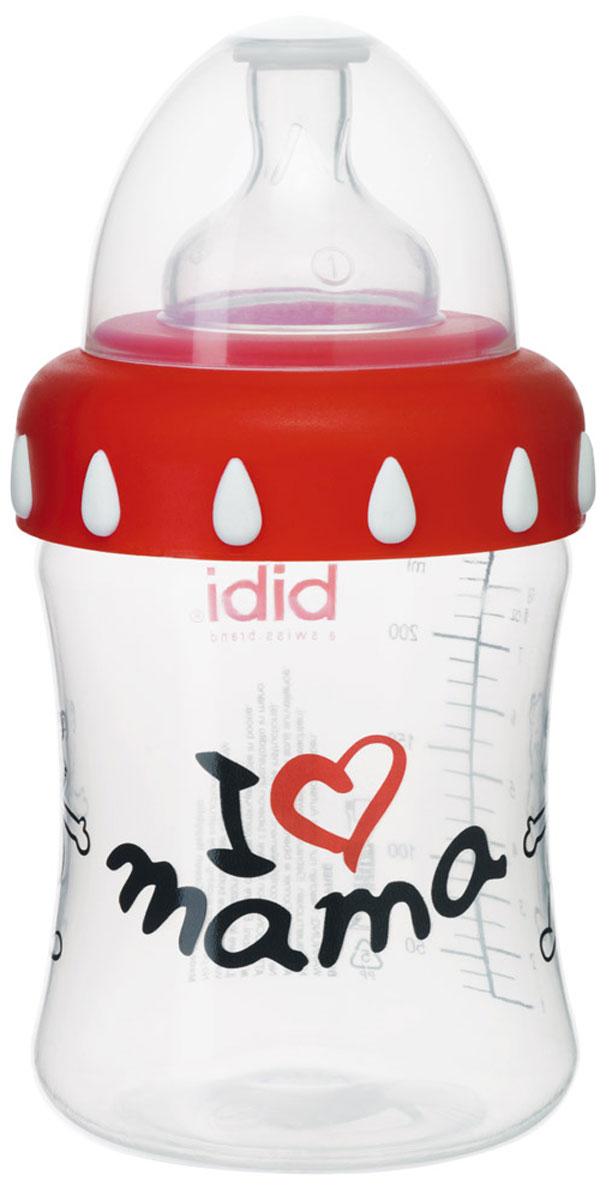 Bibi Бутылочка Mama с силиконовой соской 3 в 1 250 мл