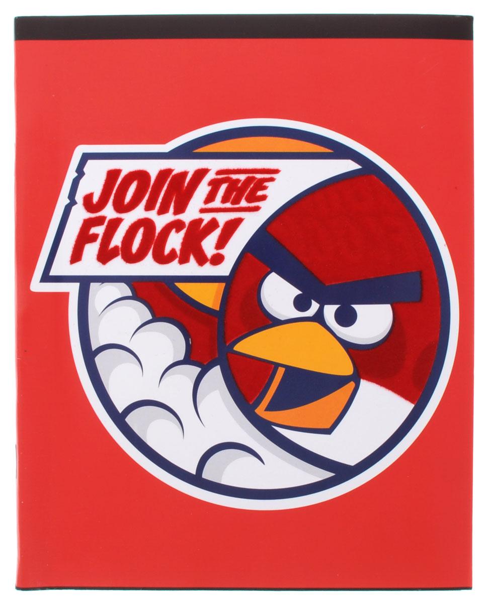 Hatber Тетрадь Angry Birds 48 листов в клетку цвет красный72523WDТетрадь Hatber Angry Birds отлично подойдет для занятий школьнику или студенту.Обложка, выполненная из плотного картона, позволит сохранить тетрадь в аккуратном состоянии на протяжении всего времени использования. Изделие оформлено бархатистым изображением злой птички.Внутренний блок тетради, соединенный скрепками, состоит из 48 листов белой бумаги в голубую клетку с полями красного цвета.