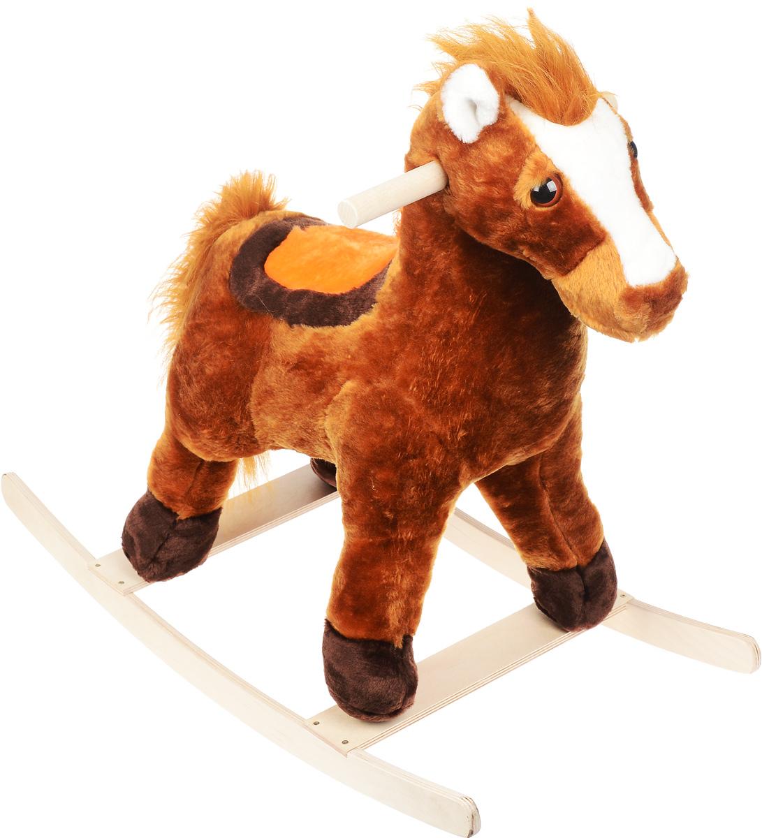 СмолТойс Игрушка-качалка Лошадь цвет коричневый 1570/ШК