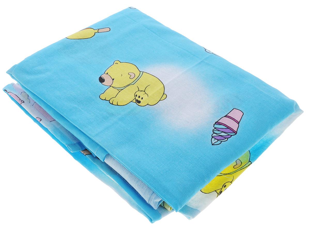 Фея Комплект детского постельного белья Мишки цвет голубой 3 предмета01321103Детский комплект постельного белья Фея Мишки состоит из наволочки, пододеяльника и простыни. Такой комплект идеально подойдет для кроватки вашего малыша и обеспечит ему здоровый сон. Он изготовлен из натурального 100% хлопка, дарящего малышу непревзойденную мягкость. Натуральный материал не раздражает даже самую нежную и чувствительную кожу ребенка, обеспечивая ему наибольший комфорт. Оригинальный рисунок комплекта, несомненно, понравится малышу и привлечет его внимание. На постельном белье Фея Мишки ваша кроха будет спать здоровым и крепким сном.