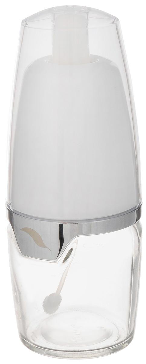 Распылитель масла Prepara Delux, с емкостью, высота 16,5 смPP08-MSTLXEРаспылитель масла Prepara Delux изготовлен из высококачественного стекла и пластика. Предназначен для разбрызгивания подсолнечного масла или уксуса. Такой аксессуар позволит добавить необходимое количество заправки. Распылитель закрывается специальной крышкой. Компактный, его удобно хранить, и он не займет много места на вашей кухне. Такой аксессуар придется по душе каждой хозяйке и станет незаменимым на кухне. Размер распылителя (с учетом крышки): 6,5 х 6,5 х 16,5 см.