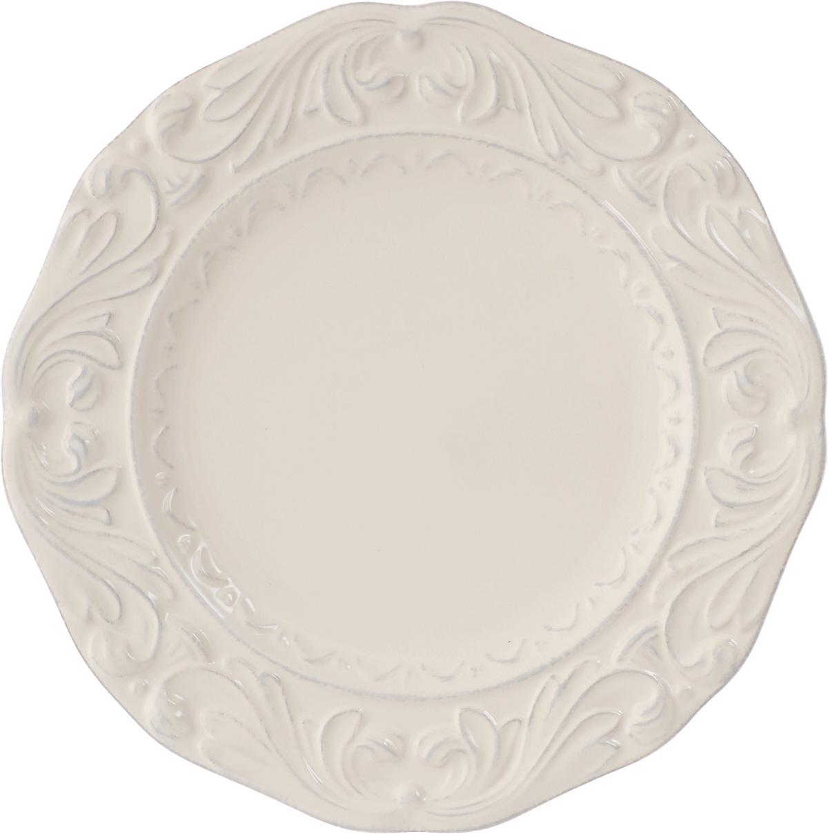 Тарелка десертная Certified International Флоренция, диаметр 24 см14902Десертная тарелка Certified International Флоренция, изготовленная из высококачественной керамики, декорирована изящным рельефным рисунком. Она подойдет как для торжественных случаев, так и для повседневного использования. Тарелка Certified International Флоренция идеальна для подачи десертов, пирожных, тортов и многого другого. Она прекрасно оформит стол и станет отличным дополнением к вашей коллекции кухонной посуды. Можно мыть в посудомоечной машине и использовать в микроволновой печи. Диаметр тарелки: 24 см.