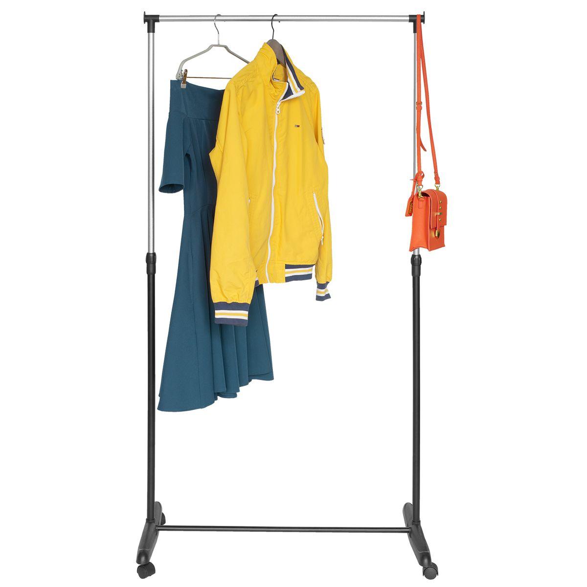 Стойка для одежды Мобильная Artmoon Sam, цвет: черный хром699355Artmoon SAM Мобильная стойка для одежды, размер: 81x40x90 -160(В) см, окрашенная сталь, колеса обеспечивают мобильность.